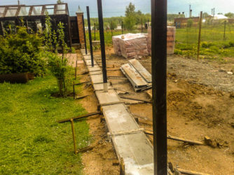 Строительство фундамента под забор