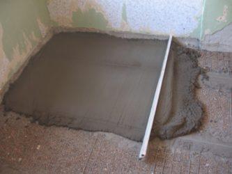 Подготовка пола к заливке стяжки