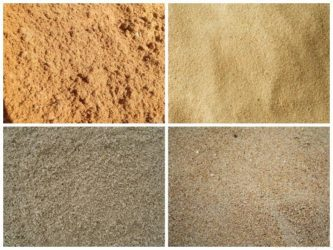 Виды песка для строительства