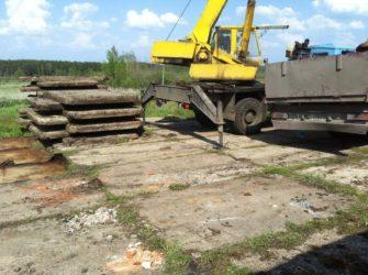 Строительство площадок из дорожных плит по бартеру