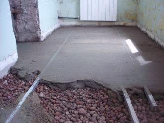 Керамзито цементная стяжка пола