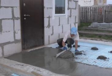 Стяжка на улице как правильно залить?