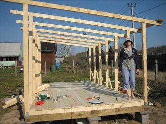 Строительство бытовки своими руками пошагово