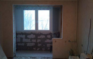 Демонтаж подоконного блока в монолитном доме