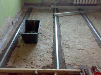 Толщина бетонной стяжки для пола в гараже