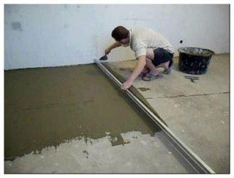 Плиточный клей вместо стяжки