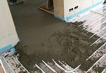 Как залить стяжку под водяной теплый пол?