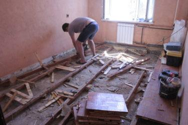 Замена стяжки пола в квартире