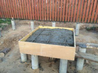 Баня на бетонных блоках