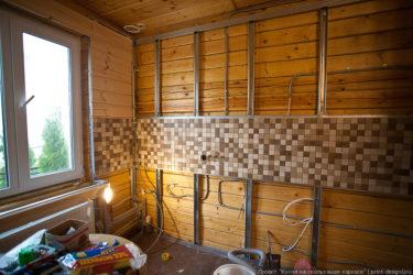 Плитка на стены в каркасном доме