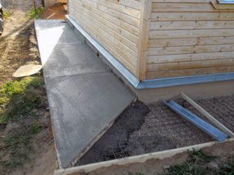 Строительство отмостки вокруг дома