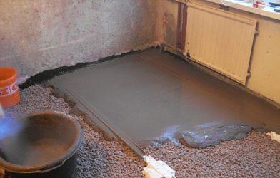 Как правильно заливать стяжку с керамзитом?