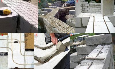 Как построить стену из газобетонных блоков?