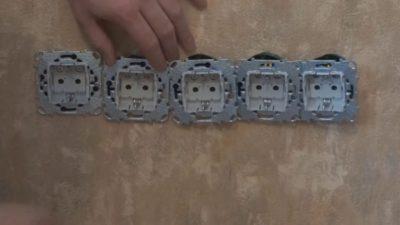 Блок из 4 розеток внутренней установки