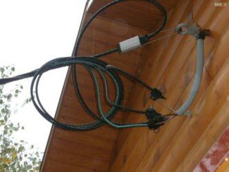 Ввод электричества в каркасный дом
