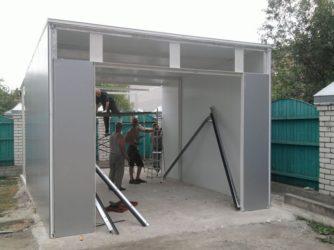 Строительство гаража из сэндвич панелей своими руками