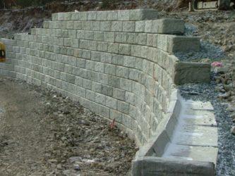 Бетонные блоки для подпорных стенок