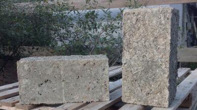 Блоки из прессованных опилок