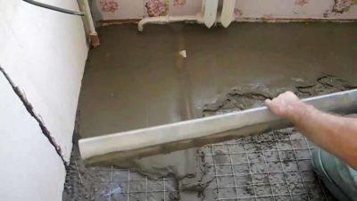 Стяжка пола керамзитом на кухне