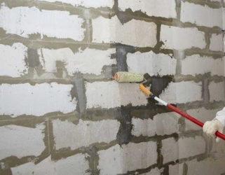 Чем штукатурить газосиликатные блоки внутри дома?