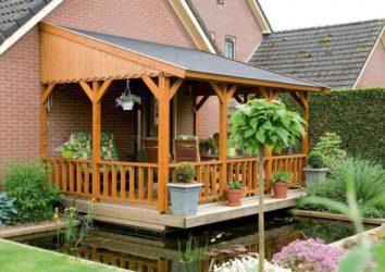 Строительство открытой террасы к дому