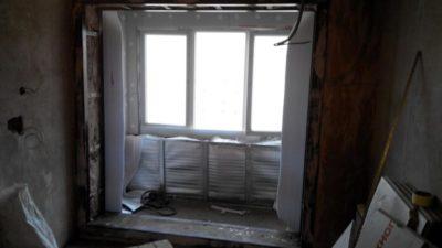 Восстановление балконного блока после перепланировки