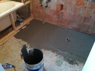 Сухая стяжка в ванной комнате