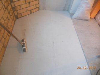 Сухая стяжка пола на балконе