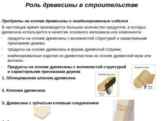 Роль древесины в строительстве