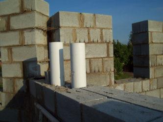 Дымоход из керамзитобетонных блоков