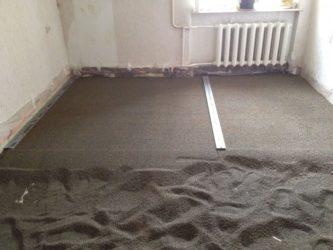 Сухая стяжка по деревянному полу