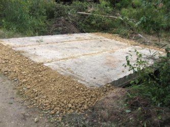 Строительство въезда на участок через канаву
