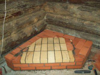 Кирпичная печь без фундамента на пол