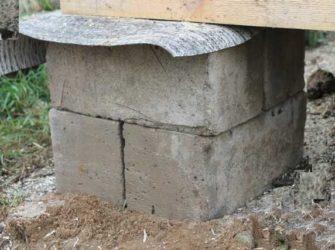 Фундаментные блоки под бытовку