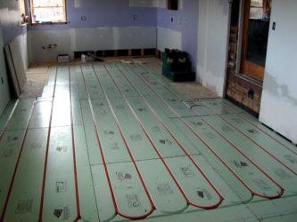 Теплый пол сухая стяжка в деревянном доме