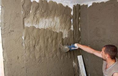 Штукатурка неровных стен цементным раствором бетон красногорское