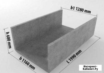 П образные бетонные блоки для канавы