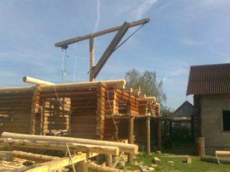 Приспособления для подъема бревен при строительстве дома