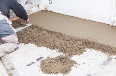 Какой песок лучше для стяжки пола?