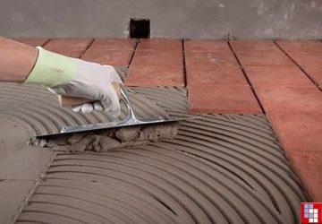 Укладка плитки на свежую стяжку