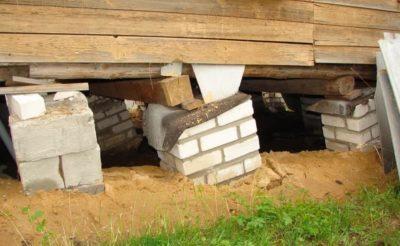 Ремонт фундамента из блоков