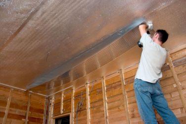 Фольгированный утеплитель для стен внутри деревянного дома
