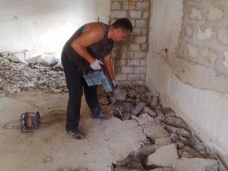 Как снять бетонную стяжку?