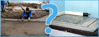 Мокрая или полусухая стяжка что лучше?