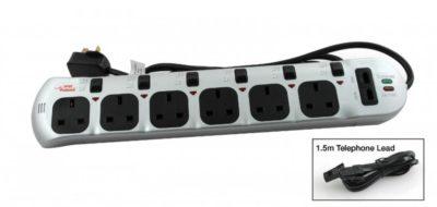 Блок розеток с выключателями на каждую розетку