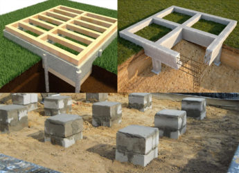 Виды фундаментов для каркасного дома