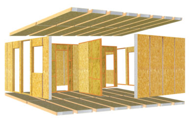 Утепленные панели для строительства дома