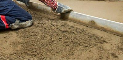Стяжка пола из песка или из отсева
