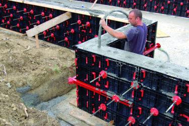 Съемная опалубка для монолитного строительства