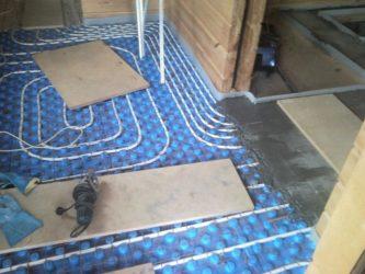 Водяной теплый пол без стяжки под плитку